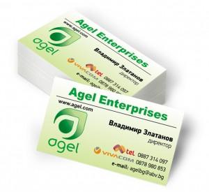 Отпечатване на визитки Agel Enterprises- гр. Пловдив