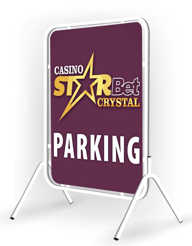 Метални табели - ПАРКИНГ казино StarBet Crystal - Слънчев Бряг