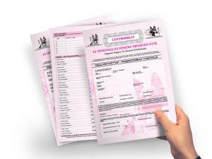 Отпечатване на сертификати, бланки