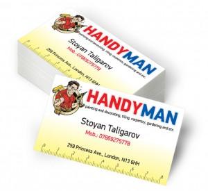 Печат на визитки Handyman